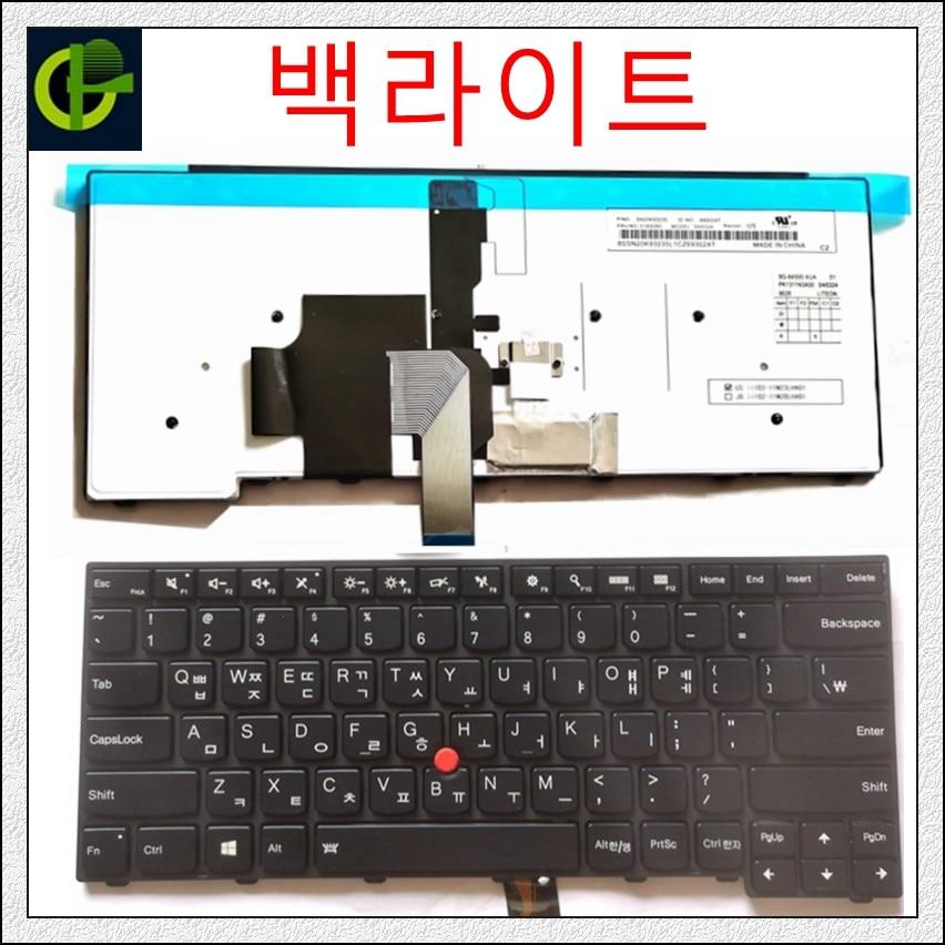Coreano retroiluminada nuevo teclado para lenovo ThinkPad L440 L450 L460 L470 T431S T440 T440P T440S T450 T450S e440 e431S T460 KR KOR