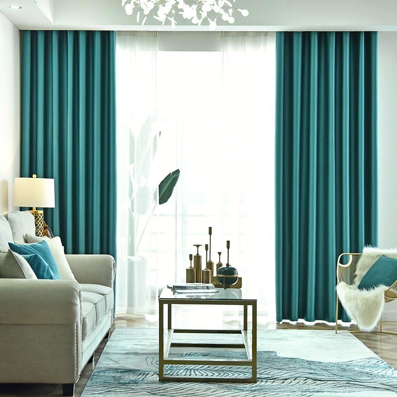 Cortinas personalizadas para sala de estar quarto sombra simples e moderno isolamento térmico sun sombra cortina pano engrossado janela da baía