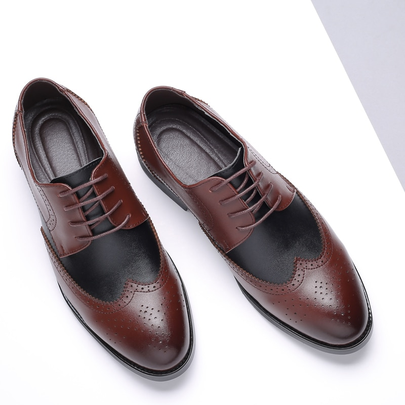 batzuzhi luxury handmade leather shoes men silver iron toe pointed formal dress shoes men oxfords party and wedding shoes us12 LUXURY MEN SHOES GENUINE LEATHER LACE UP OFFICE BUSINESS SHOES FORMAL BROGUE POINTED TOE OXFORDS WEDDING SHOES