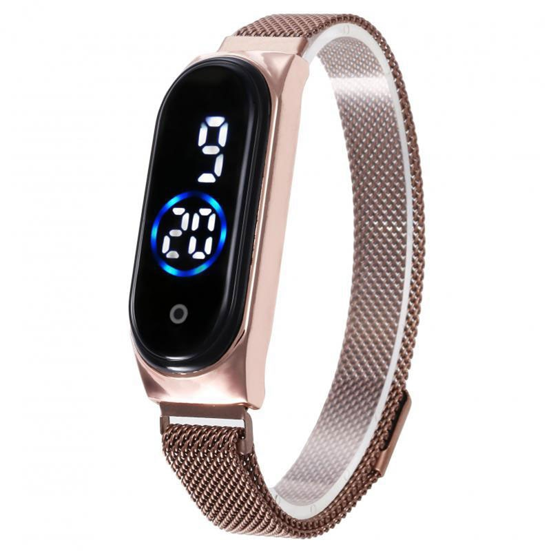 Led Women Watch Magnetic Lodestone Waterproof Touch Women's Watches Fashion Touch Digital Wristwatches