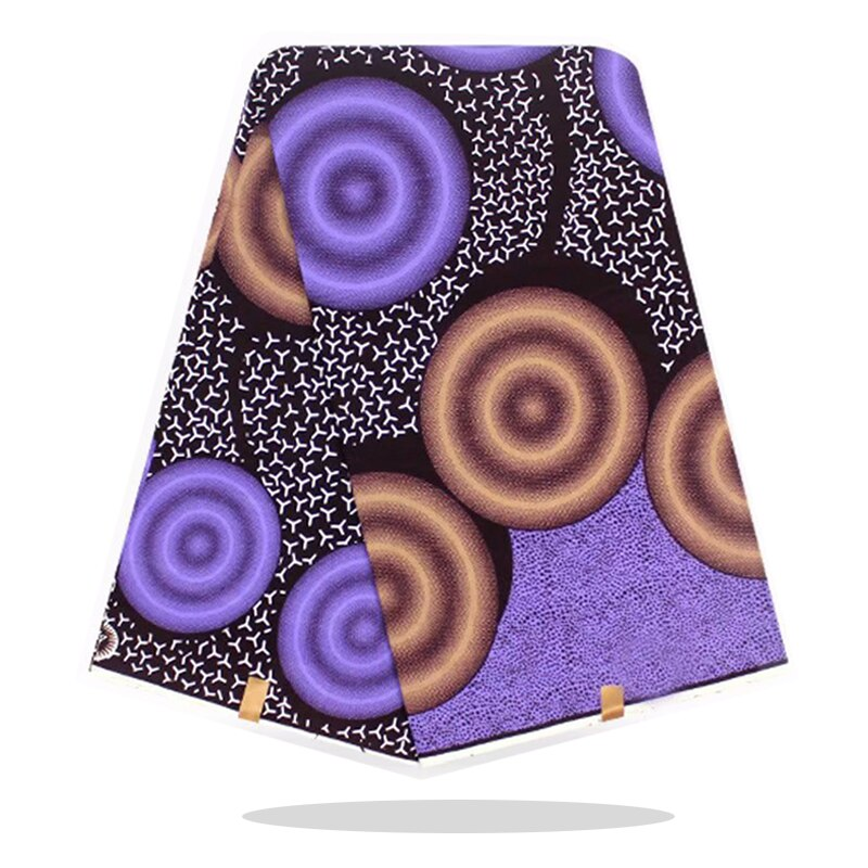 Ankara Wax Prints Fabric Cotton 100%Breathable Veritable High Quality African  Wax Block Print Fabric By The Yards RV09-78