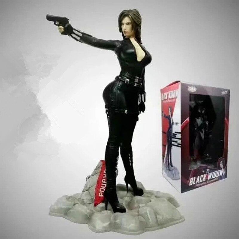 Vengadores Infinity War negro viuda Natasha Romanoff estatua PVC MODELO DE figura de acción de juguete colección de