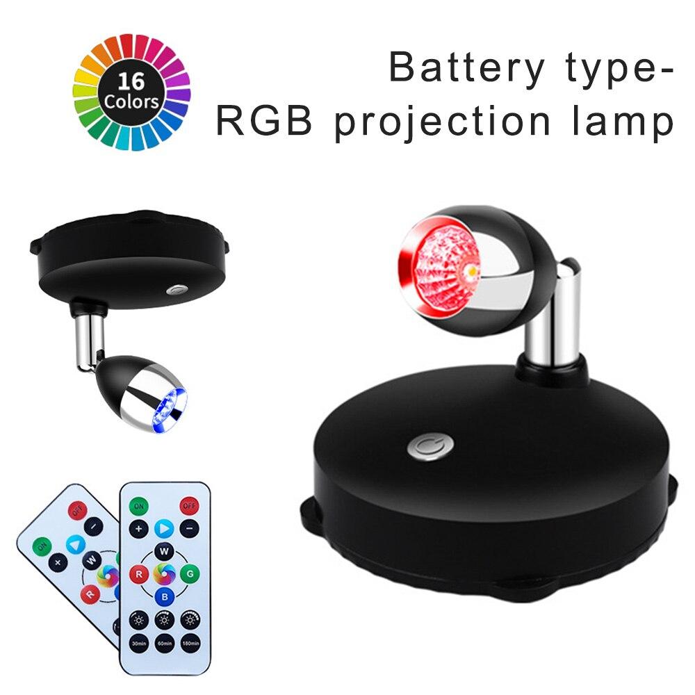 LED ضوء عرض الحائط مصباح إسقاط اللون معرض الأسلاك الحرة RGB ديكور جو مصباح إسقاط قابل للتعديل