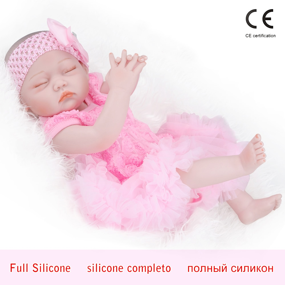 "Reborn baby doll 19"" Inch Realistic Newborn Baby Dolls Reborn Lifelike Full Body Silicone Babies Handmade Toddler Dolls Toys"