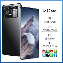 Smartphone Xiao M12 Pro Global Version MTK6889 16GB+512GB 6.7Inch 5G 10 Core support Dual Nano SIM C
