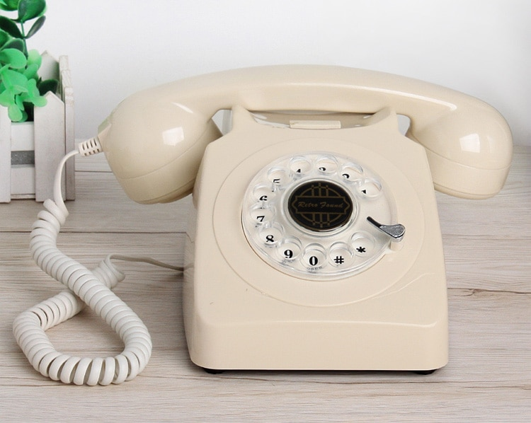 Classic Antique Retro Phone Vintage Old Fashon Desktop Telephone Analog Old School Phone with Cord For Home Office Hotel