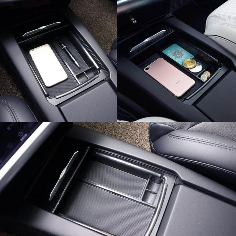 Accesorios para coche, organizador de consola central de almacenamiento para coche, caja de almacenamiento con reposabrazos, contenedor, guante para Tesla Model X Model S nuevo