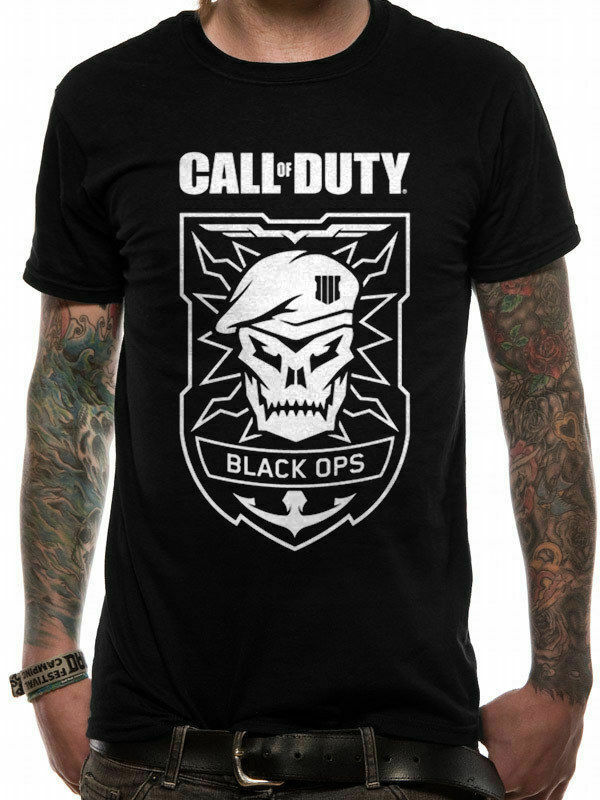 Camiseta de calavera de Black Ops para hombre, camiseta Hipster de alta...