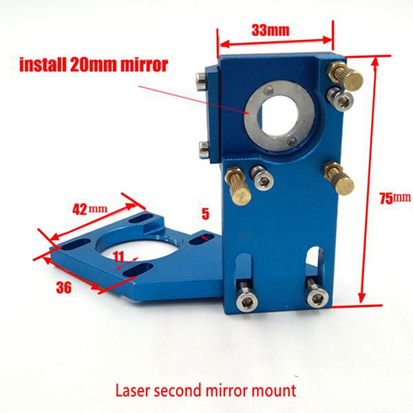 Venta caliente Co2 láser segundo espejo montaje espejo reflejo diámetro 20mm montaje para máquina de corte de grabado láser