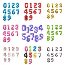 Ballons chiffres numériques 16/32/40 pouces   Ballons en aluminium, pour décoration de mariage, réception-cadeau pour bébé, fête danniversaire, vente en gros