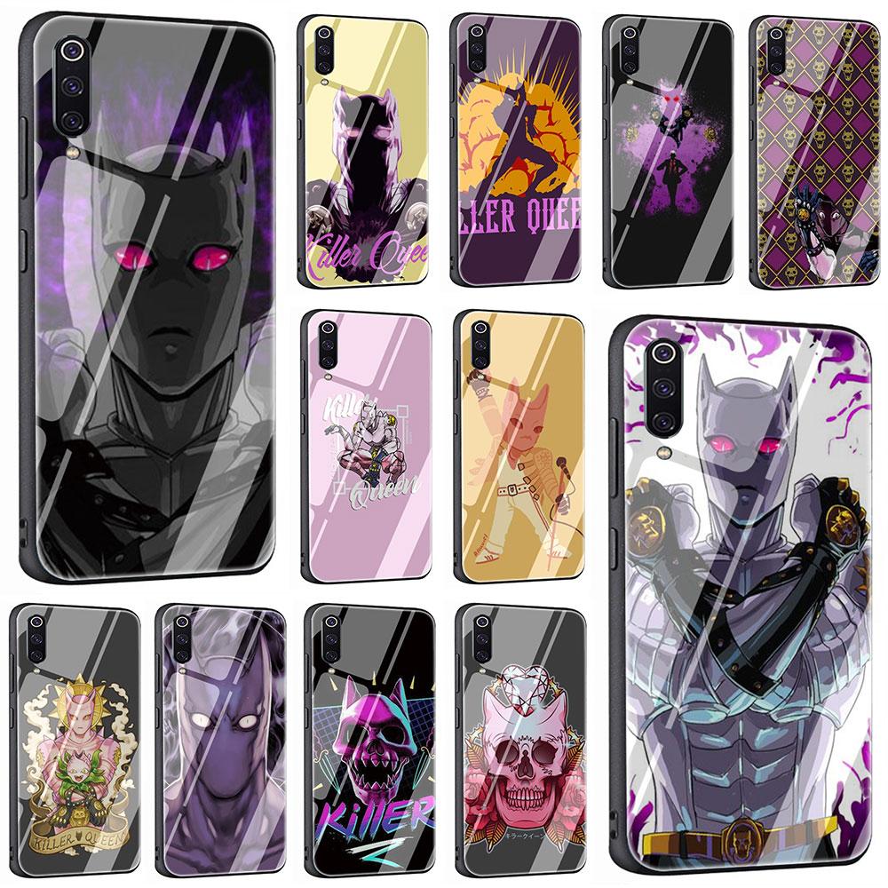 EWAU Anime JoJo Killer Queen Tempered Glass Phone Cover Case For Xiaomi Mi 8 9 Redmi 4X 6A Note 5 6 7 Pro Pocophone F1