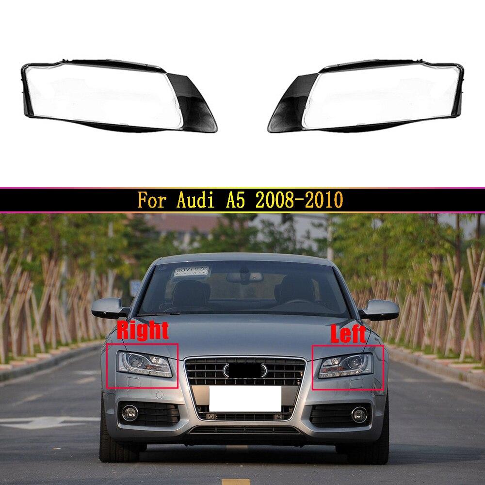 مصباح السيارات الأمامي لأودي A5 2008 2009 2010 سيارة الجبهة غطاء المصباح ضوء زجاج عدسة مشرق عاكس الضوء شل
