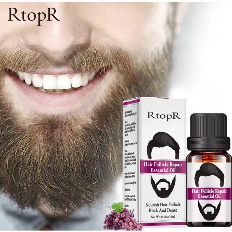 100% naturales para el crecimiento del vello Facial aceite esencial para la...
