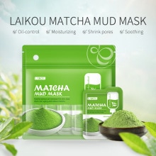 Mask LAIKOU Longjing Green Tea Green Clay Smear Cleansing Clay 12 Pieces of Refreshing Moisturizing