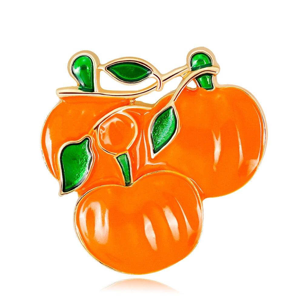 Halloween abóbora broches para crianças folha liga esmalte pino broches dia das bruxas ação de graças festa jóias presente al428