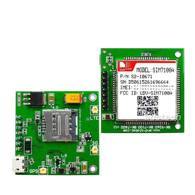 Placa de desarrollo SIM7100A, placa de desarrollo SIMCOM sim7100, módulo LTE Cat3 100%, nuevo y Original, sin LTE-FDD falsos B2/B4/B5/B17