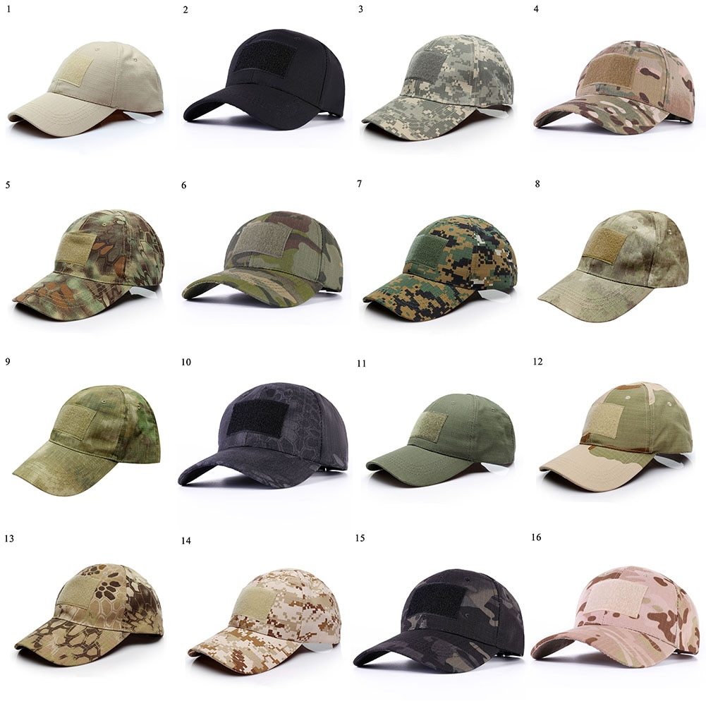 Unisex Outdoor Sport Snapback Camouflage Tactical Hat Colorful Sun Protect Casual Adjustable Hats De