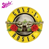 sticky guns n roses sign badge brand car sticker decal decor motorcycle off road laptop trunk guitar pvc vinyl stickers