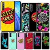 santa cruz smartphone case for realme 8 7 6 5 pro c21y c20a c15 c11 c12 c3 xt gt neo 7i x50 black silicone fundas