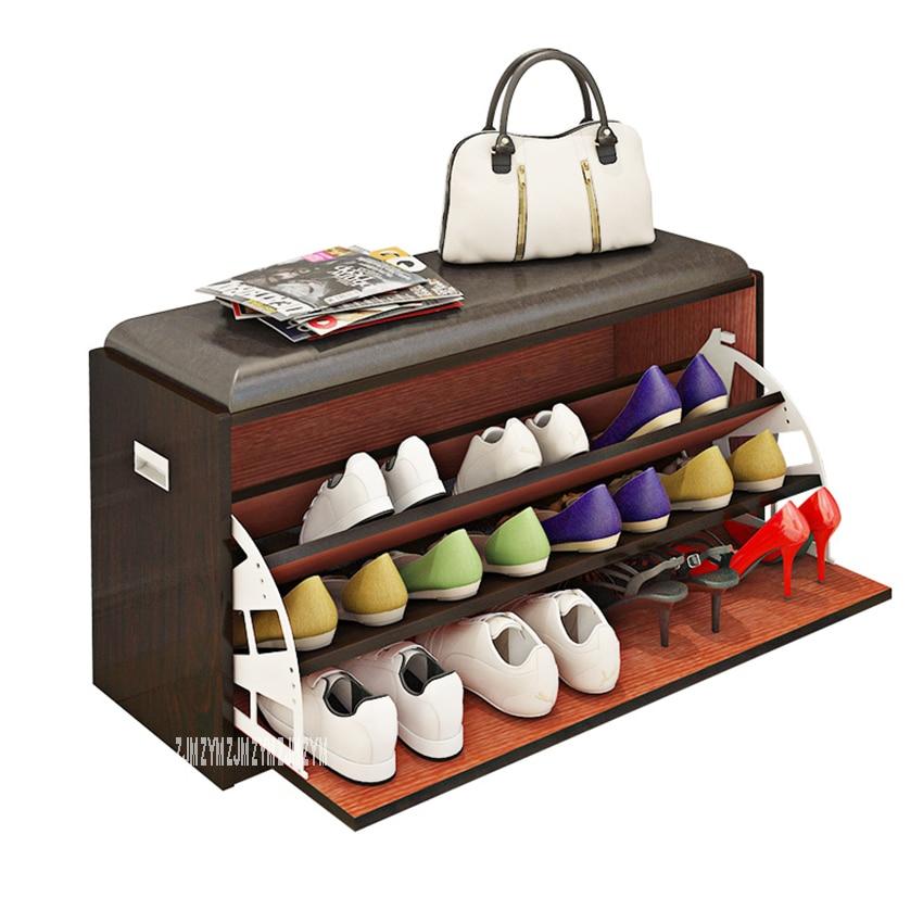 MAZ80 Free-Installation Wood Tipping Bucket szafka na buty wielofunkcyjna zmiana stołka na buty stojak na buty buty próbujące stołek