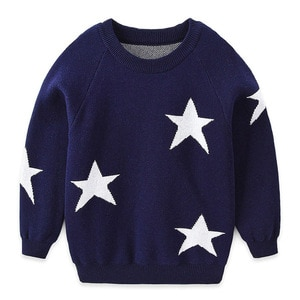 Children's sweater boys' and girls' round neck cotton sweater thick