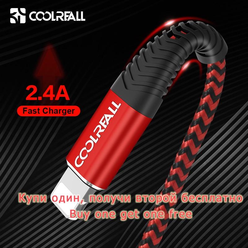 Coolreall-Cable USB de carga rápida para móvil, Cable de datos para iPhone...