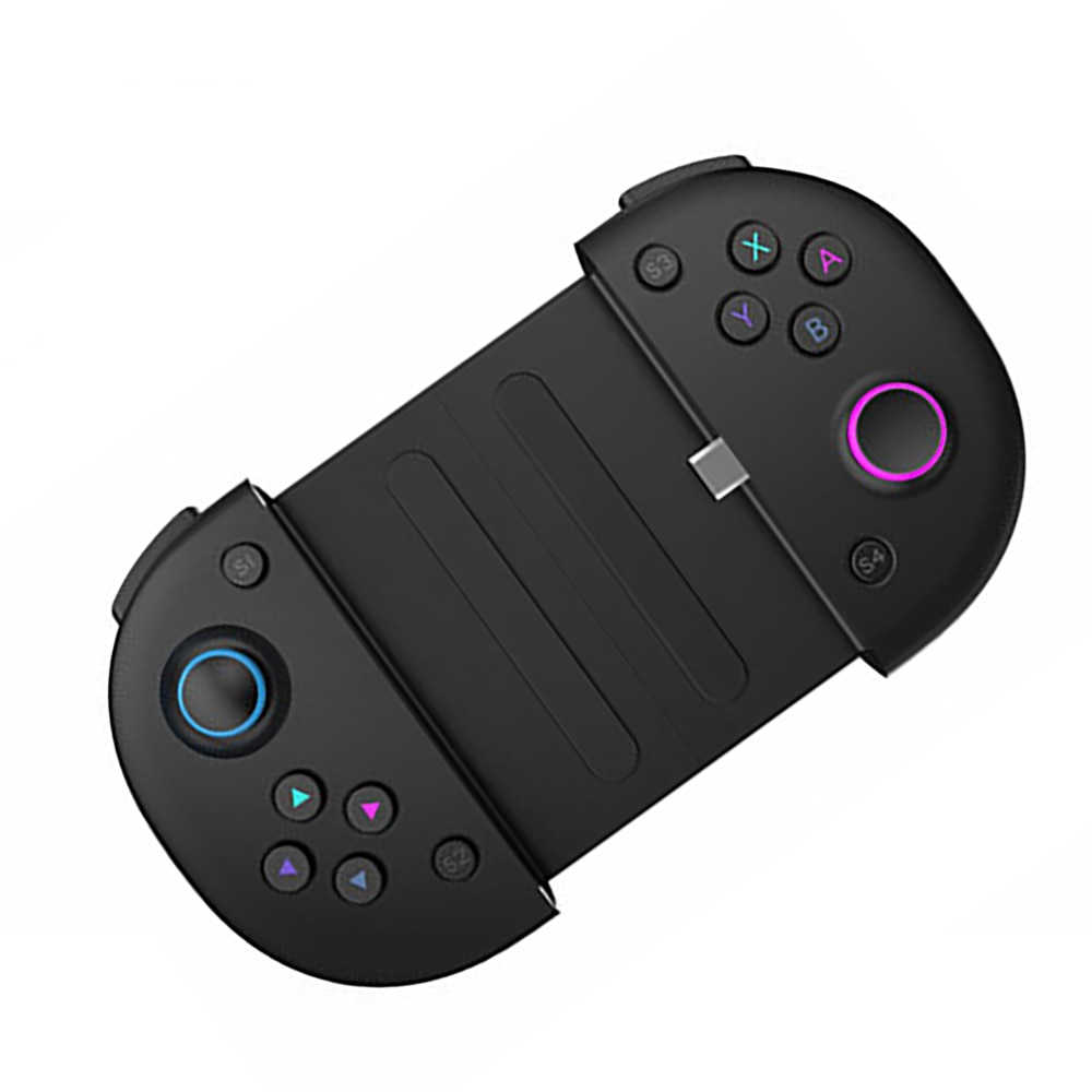 MINI Game Controller with Type C fast charging +Telescope phone holder Portable game handle joystick Sensitive buttons design