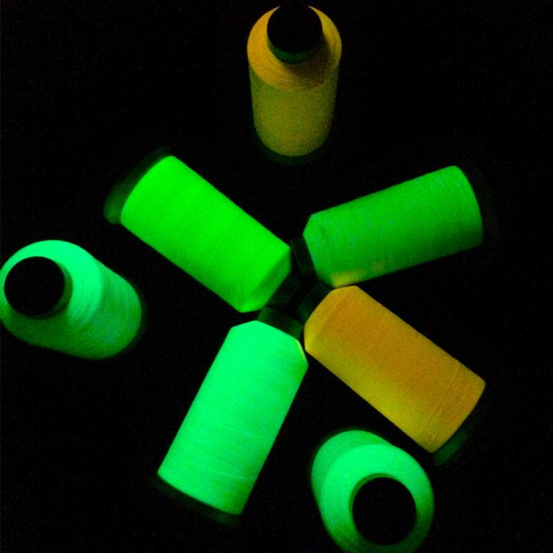 1 rolo de fio de costura de bordado de náilon 1000 metros carretel brilho luminoso no escuro máquina costura acessórios artesanais