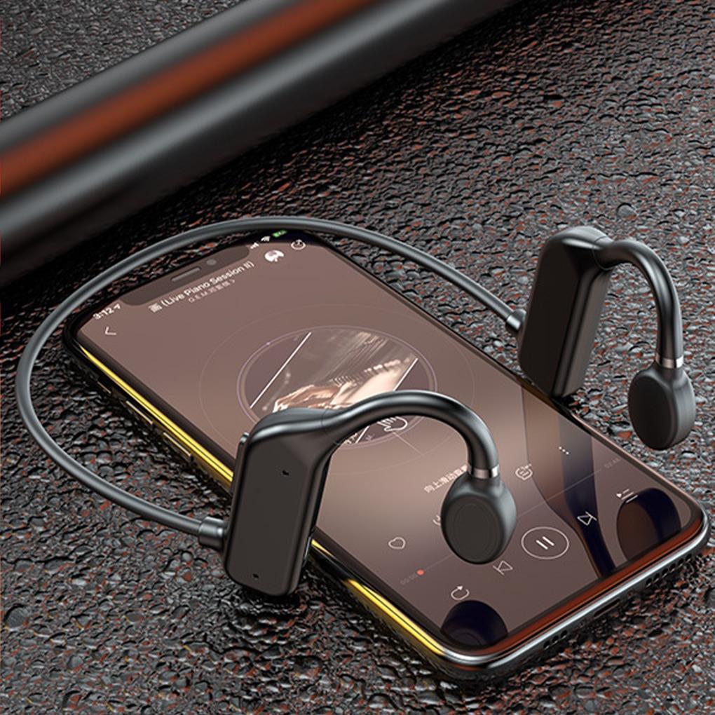Promo TWS 5.0 Bluetooth Earphones Sport Wireless Headset Ear Hook Air Bone Conduction Principle Stereo HIFI Headphones With Microphone
