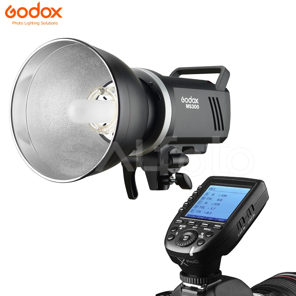 Godox MS300 300Ws / MS200 200Ws + X2T / Xpro Transmitter Studio Flash Light 2.4G Built-in Wireless Compact Photo Strobe Lighting