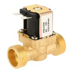 1pc dc12v g3/4 normal fechado latão válvula solenóide elétrica para água potável controlador de pressão pneumática interruptor