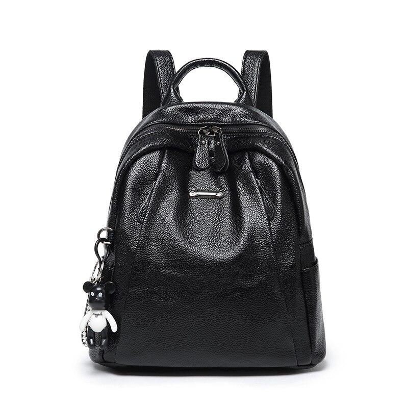 Классический мягкий прохладный рюкзак из искусственной кожи, женские уличные вместительные рюкзаки