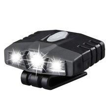 Ultra Bright Hands-Free Led Clip On Hat Light - Rechargeable 150 Lumens Lightweight Spotlight Waterproof Cap Light Flashlight he