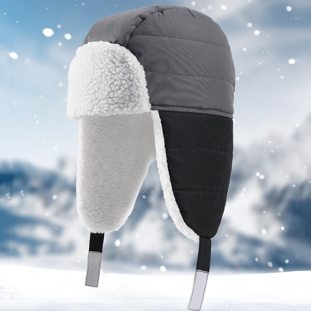 Breathable Outdoor Thermal Russian Trapper Hat Winter Bomber Hat Head Warmer