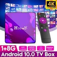 Приставка Смарт-ТВ H10 Max plus, Android 2,4, ОЗУ 2 ГБ, 16 ГБ, ГГц и фото, Wi-Fi, 4K, медиаплеер H313, четырехъядерный 64-бит, сетевая телеприставка