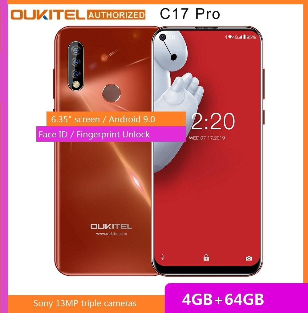 Перейти на Алиэкспресс и купить OUKITEL C17 Pro смартфон с 5,5-дюймовым дисплеем, восьмиядерным процессором MT6763, ОЗУ 4 Гб, ПЗУ 64 ГБ, 6,35 мАч, Android 9,0