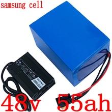 48v 1000 w 2000 w 3000 w 리튬 배터리 팩 48v 55ah 전기 자전거 배터리 48v 55ah 리튬 이온 배터리 사용 삼성 셀