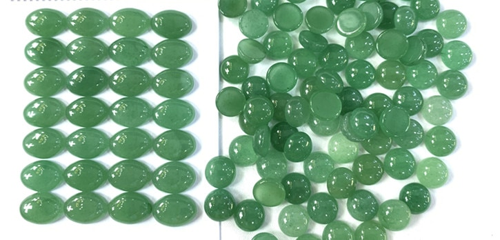 green aventurine round cabochon gemstone for  jewelry CAB wholesale CAB free shipping