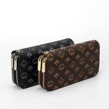 Designer Wallet Men/women Cluth Purses Luxury Handbags PU Leather Long Wallet Double Zipper Large Ca