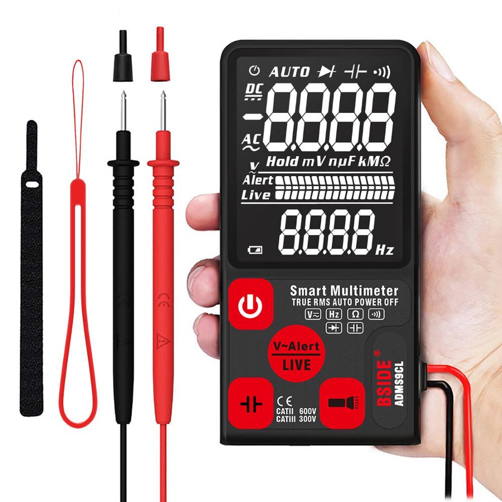 "Bside Ultra-Draagbare Digitale Multimeter Bside ADMS9CL Grote 3.5 ""Lcd 3-Line Display Voltmeter Dmm Ac Dc voltage Ncv Ohm Tester"