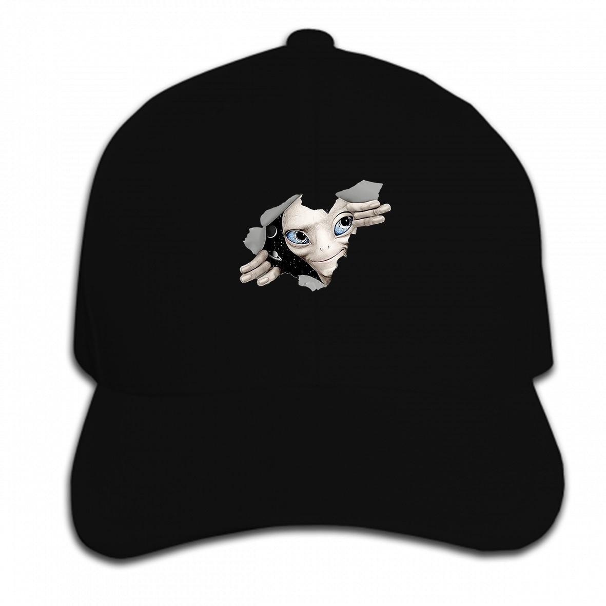 Print Custom Baseball Cap Alien Inside Glow UV Blacklight Trance Festival Psychedelic Goa  Hat Peaked cap