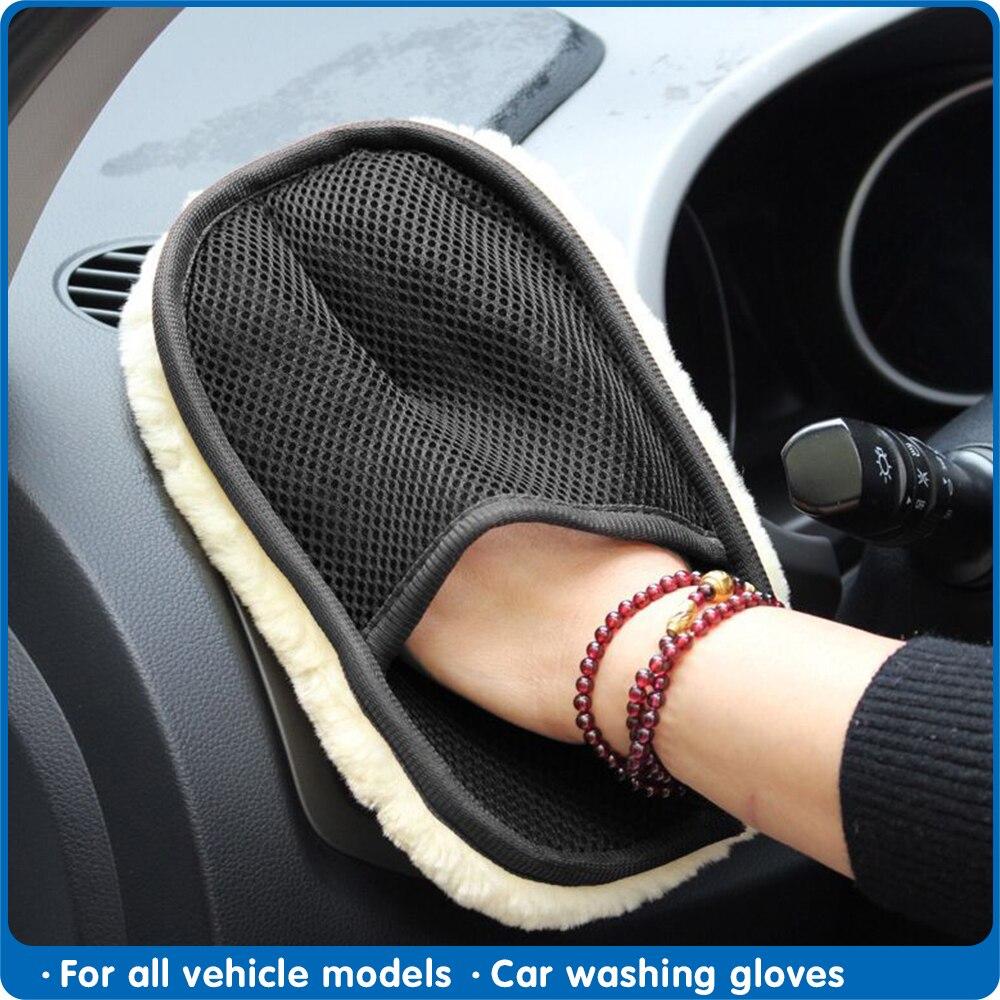 Guantes de lavado para coche de 15x24cm, guantes de lavado para coche, cepillo de limpieza limpiadora de motocicleta, cepillo de limpieza de coche, guantes suaves, limpiador de lana