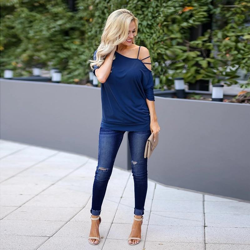 2020 Women Denim Skinny Trousers Low Waist Jeans Destroyed Knee Holes Pencil Pants Trousers Stretch Ripped Boyfriend Mom Jeans