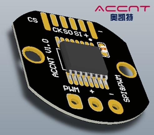 Magnetoelectric High-precision 16-bit Resolution SPI / ABZ / UVW / PWM Output Rotary Encoder PCBA Module