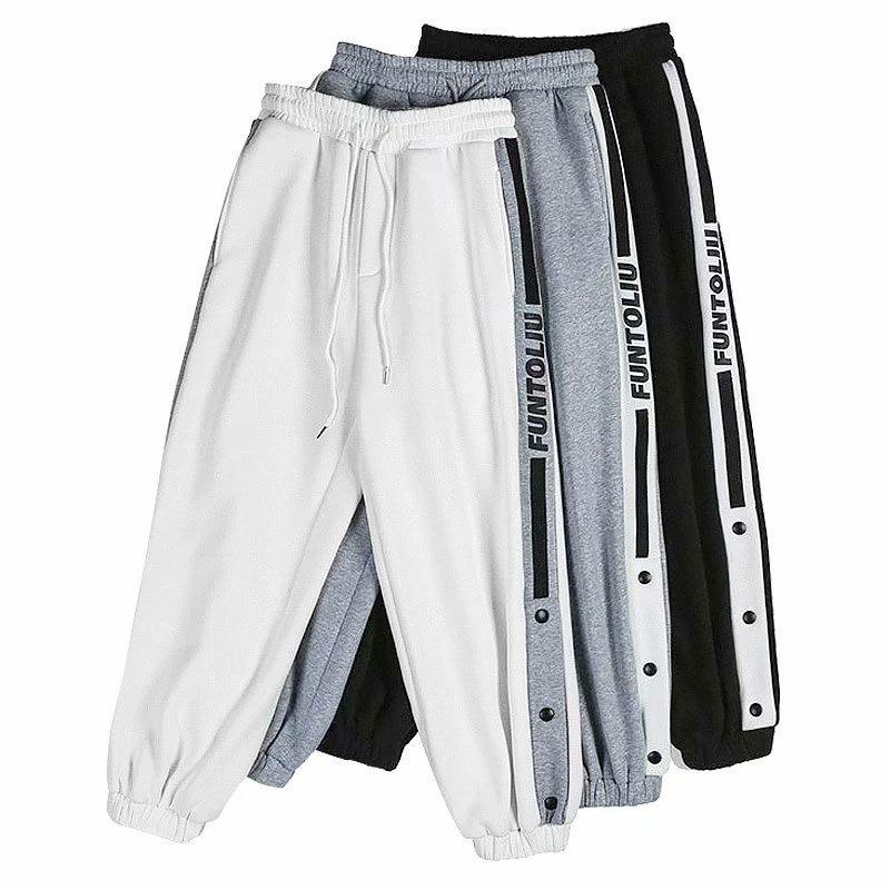Spring Summer Thin Men Harem Pants Korean Harajuku Loose Black Gray Joggers Sweatpants Ankle Length Casual Trousers Hip Hop Pant