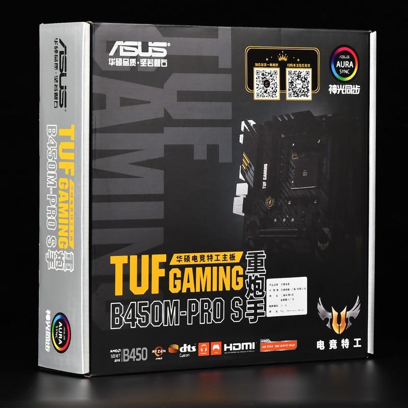 [해외] Asus TUF GAMING B450M-PRO S 마더 보드 DDR4 SSD M.2 AMD Ryzen 데스크탑 B450 AM4