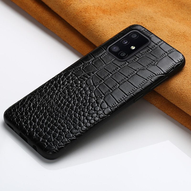 Genuine Leather Cover Case for Samsung Galaxy A51 A52 5G A71 A72 A50 A21S M31 M51 S20 FE S21 Ultra S8 S9 S10 S20 Plus Note 20 10
