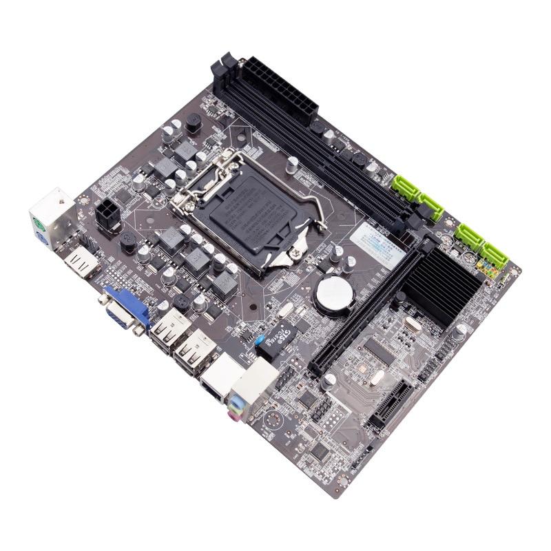 جديد H55 كمبيوتر مكتبي اللوحة 1156 دبوس مع عرض متكامل دعم إنتل كور i3/i5 DDR3 الذاكرة