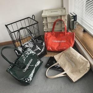 2021 New Pvc Letter Large Capacity Women Handbags Brand Shoulder Bag Ladies Bolsos High Quality Shopper Bag Lady Tote Handbags