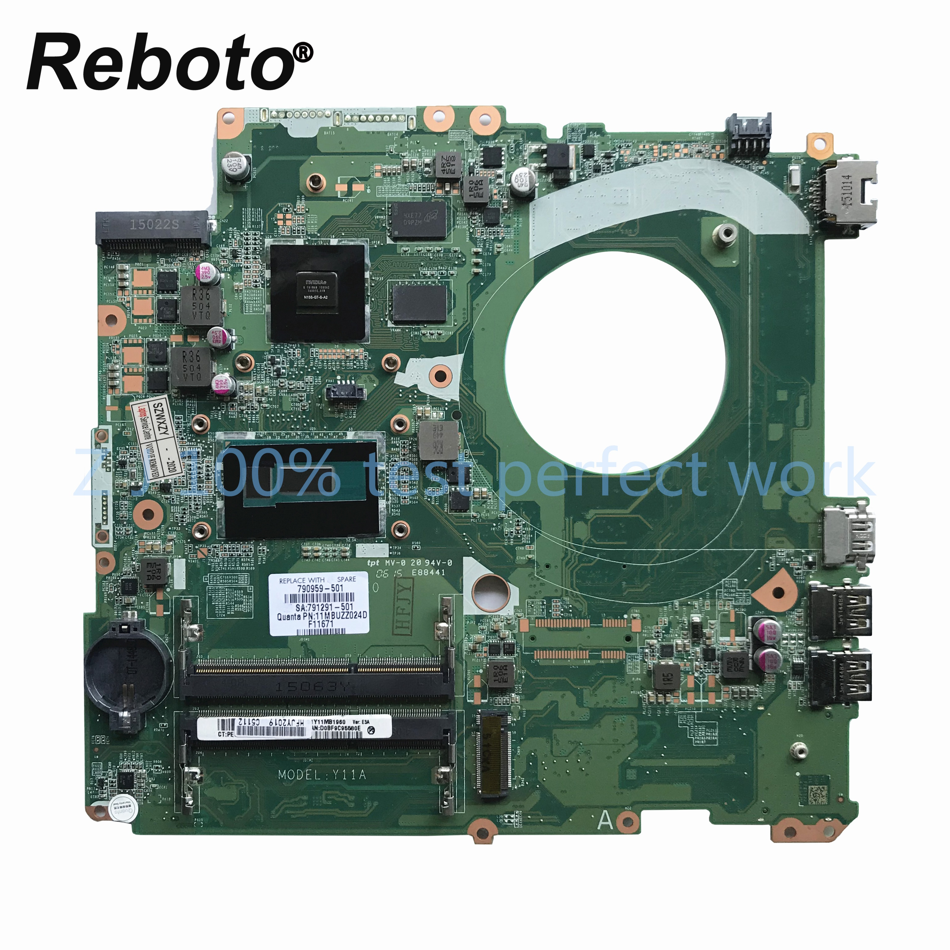 Para HP 17-F M7-K 17-P portátil placa base 790959-501, 790959-001 DAY11AMB6E0 SR23W i7-5500u 840M 2GB MB 100% probado envío rápido